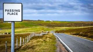 Passing place, Shetland