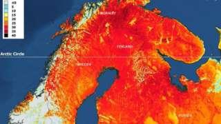 Mapa feito a partir de imagens de satélite divulgado pela Organização Meteorológica Mundial