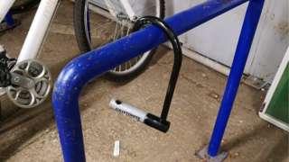 Broken bike lock