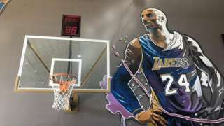 Kobe Bryant mural at the World of Kobe