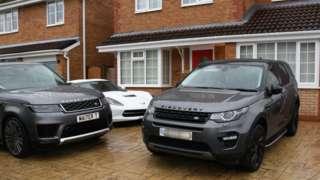 Cars on driveway
