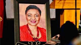 Hlengiwe Mkhize burial
