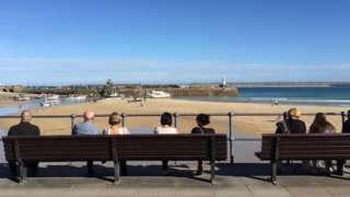 Holiday makers in St Ives