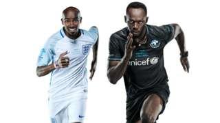Sir Mo Farah and Usain Bolt