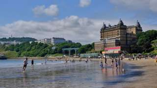 South Bay Beach in Scarborough, North Yorkshire