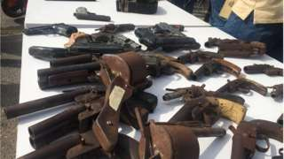 Weapons wey police recover from suspected criminals