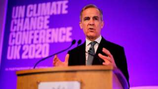 Mark Carney makes a keynote address to launch the private finance agenda for the 2020 United Nations Climate Change Conference in London