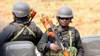 Mozambique police officers (file image)
