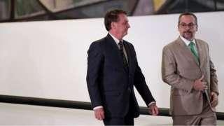 Bolsonaro ao lado de Weintraub