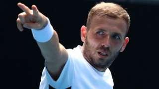Dan Evans celebrates winning Murray Open River title