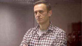 Russian opposition activist Alexei Navalny during an offsite hearing of the Moscow City Court, 20 February 2020