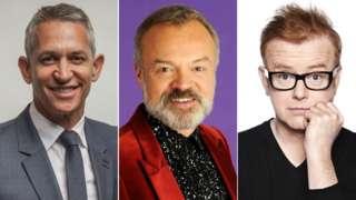 Gary Linekar, Graham Norton and Chris Evans