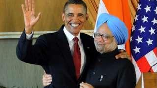 बराक ओबामा आणि डॉ. मनमोहन सिंह