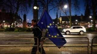 EU flag in Parliament Square