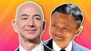 Jeff Bezos and Jack Ma