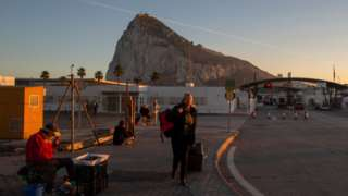 Frontera entre Gibraltar y España.