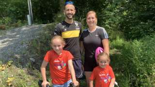 Neil Maliphant with his wife Joanna and daughters Efa and Ayla