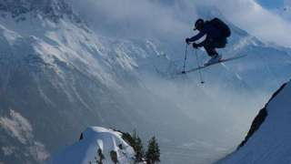 Finbar Doig skiing