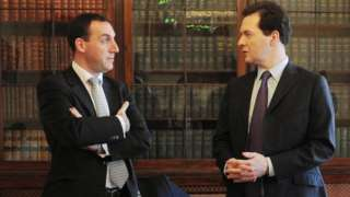 Dan Rosenfield and former chancellor George Osborne
