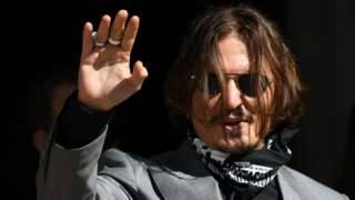 Johnny Depp at the Royal Courts of Justice in London