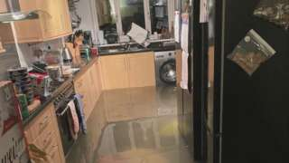 Water poured through Wendy Gilligan's home