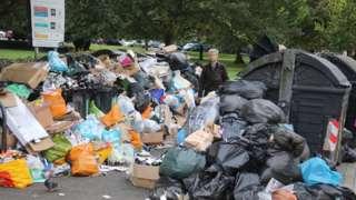 Brighton Rubbish pile up