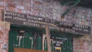 Sign at the old brewery