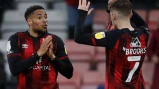 Arnaut Danjuma celebrates scoring for Bournemouth against Brentford