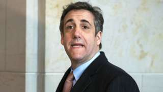 Michael Cohen arriving to address the House Oversight Committee, March 2019