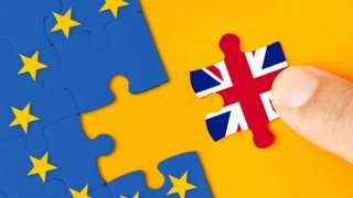 A union flag piece removed from an EU jigsaw