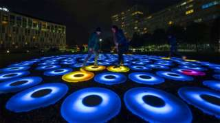 """""""The Pool"""" which is part of the River of Light Trail in Liverpool"""