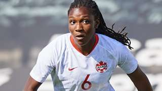 Deanne Rose in action for Canada