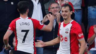 Manolo Gabbiadini celebrates scoring for Southampton against Newcastle