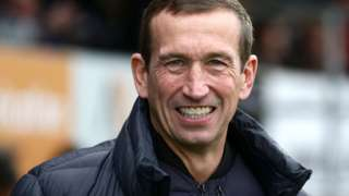 Leyton Orient manager Justin Edinburgh on the sidelines