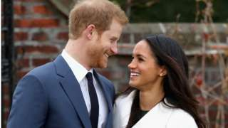 Prince Harry and Meghan Markle announcing their engagement