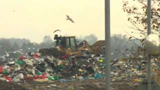 Waste at the site