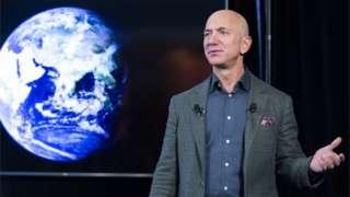 Jeff Bezos at a news conference