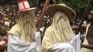 The famous Lagos state Eyo Masquerades were part of the festival