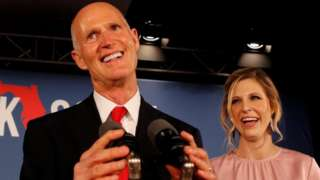 Rick Scott and his daughter at election night party