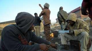 Homeless men in Alexandria