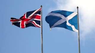 UK and Scottish flags