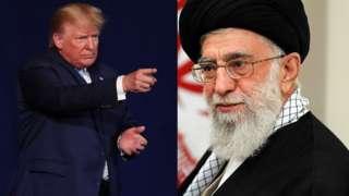 President Donald trump and Iran Supreme leader Ayatollah Ali Khamenei