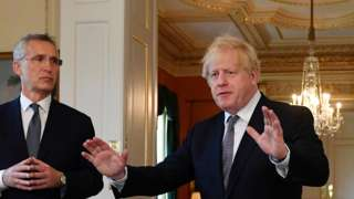 Boris Johnson and Jens Stoltenberg
