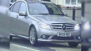 Mercedes Benz car sought by police