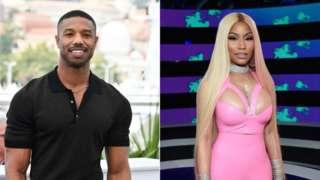 Michael B Jordan and Nicki Minaj