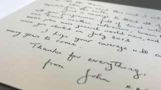 John's card