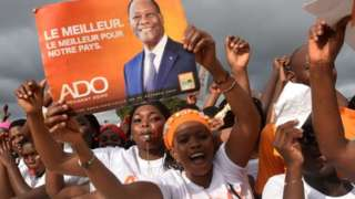 Supporters of Alassane Ouattara