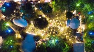 Artist's impression of the Festival Garden hub
