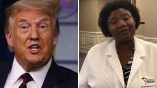 President Donald Trump and Dr Stella Immanuel