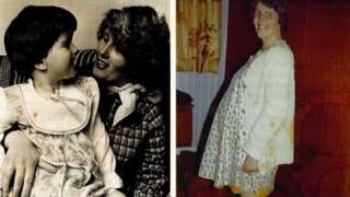 Helen and her mum, and her mum when she was pregnant